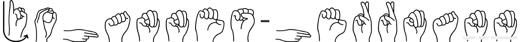 Johannes-Herrmann im Fingeralphabet der Deutschen Gebärdensprache
