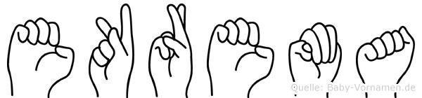 Ekrema im Fingeralphabet der Deutschen Gebärdensprache