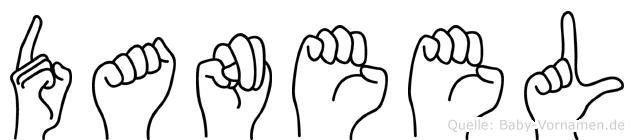 Daneel im Fingeralphabet der Deutschen Gebärdensprache