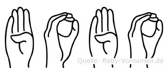Bobo in Fingersprache für Gehörlose