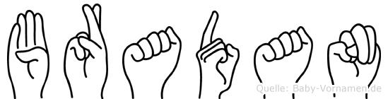 Bradan in Fingersprache für Gehörlose