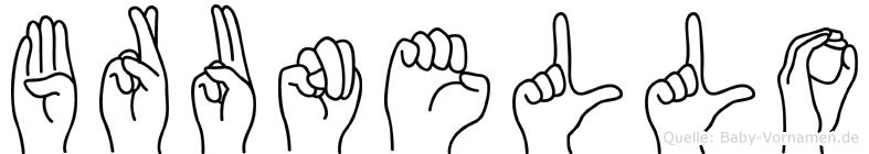 Brunello in Fingersprache für Gehörlose