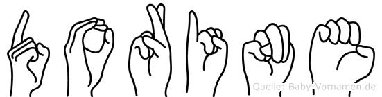 Dorine in Fingersprache für Gehörlose