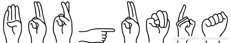 Burgunda in Fingersprache für Gehörlose