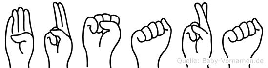 Busara in Fingersprache für Gehörlose