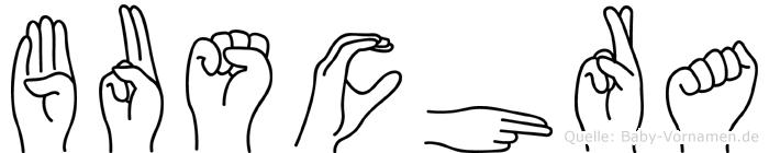 Buschra in Fingersprache für Gehörlose