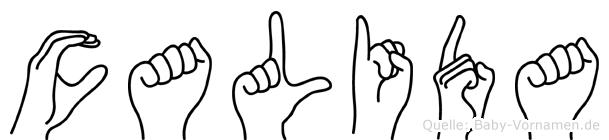 Calida in Fingersprache für Gehörlose