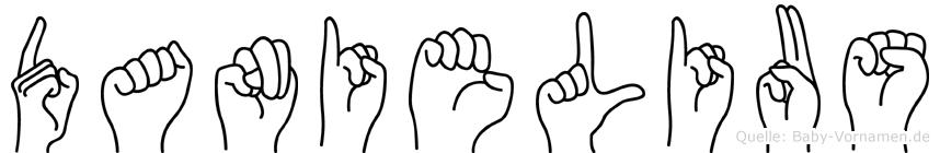 Danielius im Fingeralphabet der Deutschen Gebärdensprache