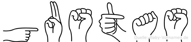 Gustas im Fingeralphabet der Deutschen Gebärdensprache