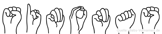 Simonas im Fingeralphabet der Deutschen Gebärdensprache