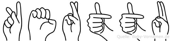 Kerttu im Fingeralphabet der Deutschen Gebärdensprache