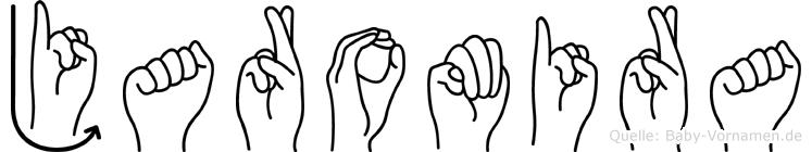 Jaromira im Fingeralphabet der Deutschen Gebärdensprache