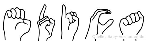 Edica in Fingersprache für Gehörlose