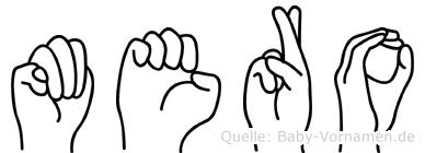 Mero in Fingersprache für Gehörlose