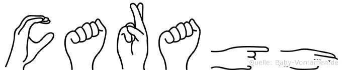 Caragh im Fingeralphabet der Deutschen Gebärdensprache