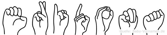 Eridona im Fingeralphabet der Deutschen Gebärdensprache