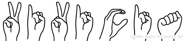 Vivicia in Fingersprache für Gehörlose