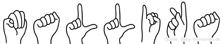 Mallika in Fingersprache für Gehörlose