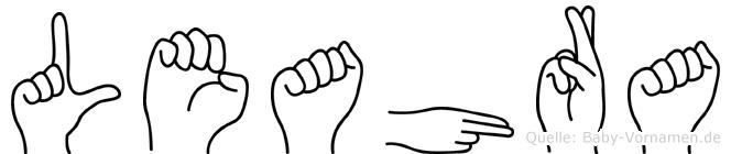 Leahra im Fingeralphabet der Deutschen Gebärdensprache