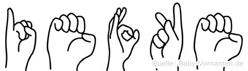 Iefke in Fingersprache für Gehörlose