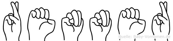 Renner im Fingeralphabet der Deutschen Gebärdensprache