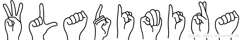 Wladimira im Fingeralphabet der Deutschen Gebärdensprache