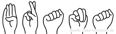 Brana in Fingersprache für Gehörlose
