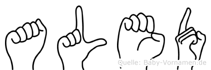 Aled in Fingersprache für Gehörlose