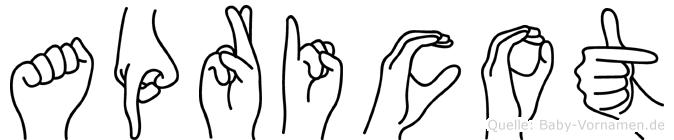 Apricot in Fingersprache für Gehörlose