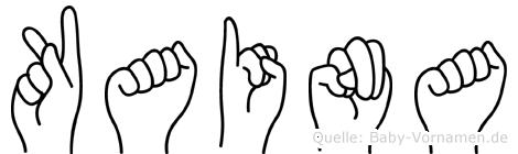 Kaina in Fingersprache für Gehörlose