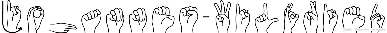 Johannes-Wilfried im Fingeralphabet der Deutschen Gebärdensprache