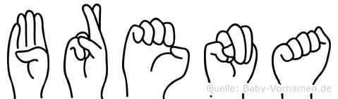 Brena in Fingersprache für Gehörlose
