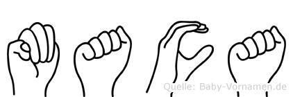 Maca in Fingersprache für Gehörlose