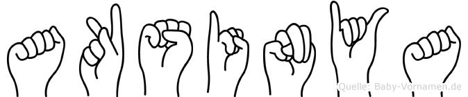 Aksinya im Fingeralphabet der Deutschen Gebärdensprache