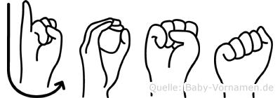 Josa in Fingersprache für Gehörlose