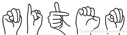 Nitem in Fingersprache für Gehörlose