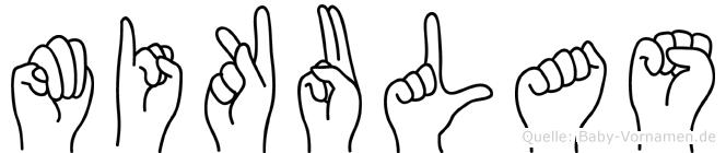 Mikulas im Fingeralphabet der Deutschen Gebärdensprache