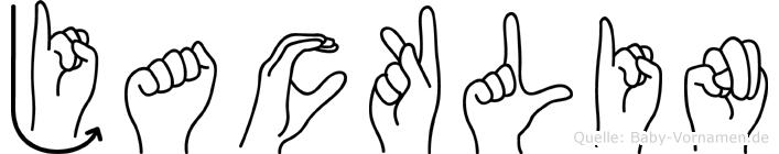 Jacklin im Fingeralphabet der Deutschen Gebärdensprache