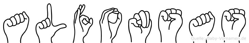 Alfonsas in Fingersprache für Gehörlose
