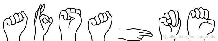 Afsahne im Fingeralphabet der Deutschen Gebärdensprache