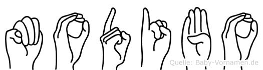 Modibo in Fingersprache für Gehörlose