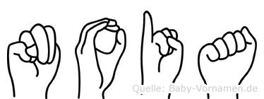 Noia im Fingeralphabet der Deutschen Gebärdensprache
