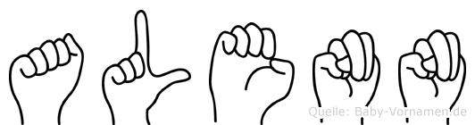 Alenn in Fingersprache für Gehörlose