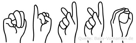 Nikko im Fingeralphabet der Deutschen Gebärdensprache