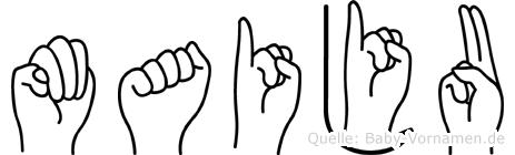 Maiju in Fingersprache für Gehörlose