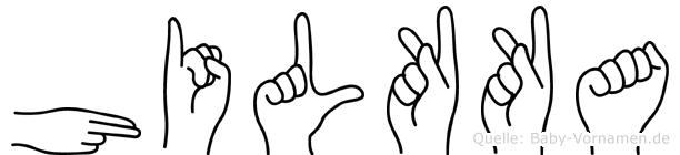 Hilkka in Fingersprache für Gehörlose