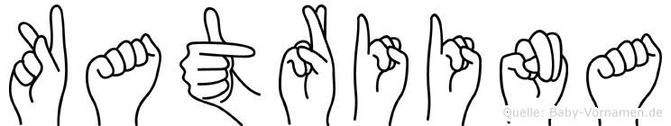 Katriina im Fingeralphabet der Deutschen Gebärdensprache