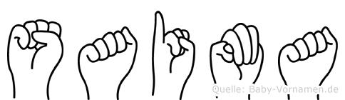 Saima in Fingersprache für Gehörlose