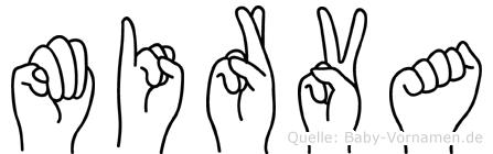Mirva im Fingeralphabet der Deutschen Gebärdensprache
