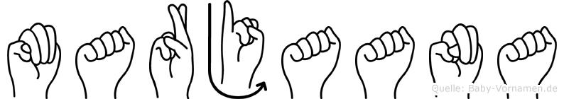 Marjaana in Fingersprache für Gehörlose